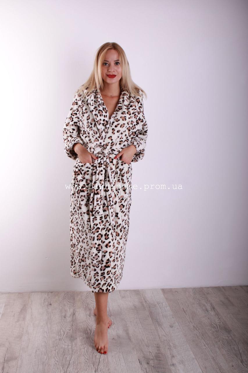 de60970209cd8 Махровый халат женский длинный с капюшоном леопардовый, Турция - Модные  вещи оптом и в розницу