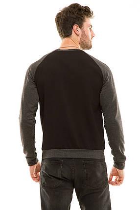 Свитшот мужской 342 черный, фото 2