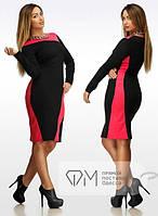 Платье оптом трикотажное батальное