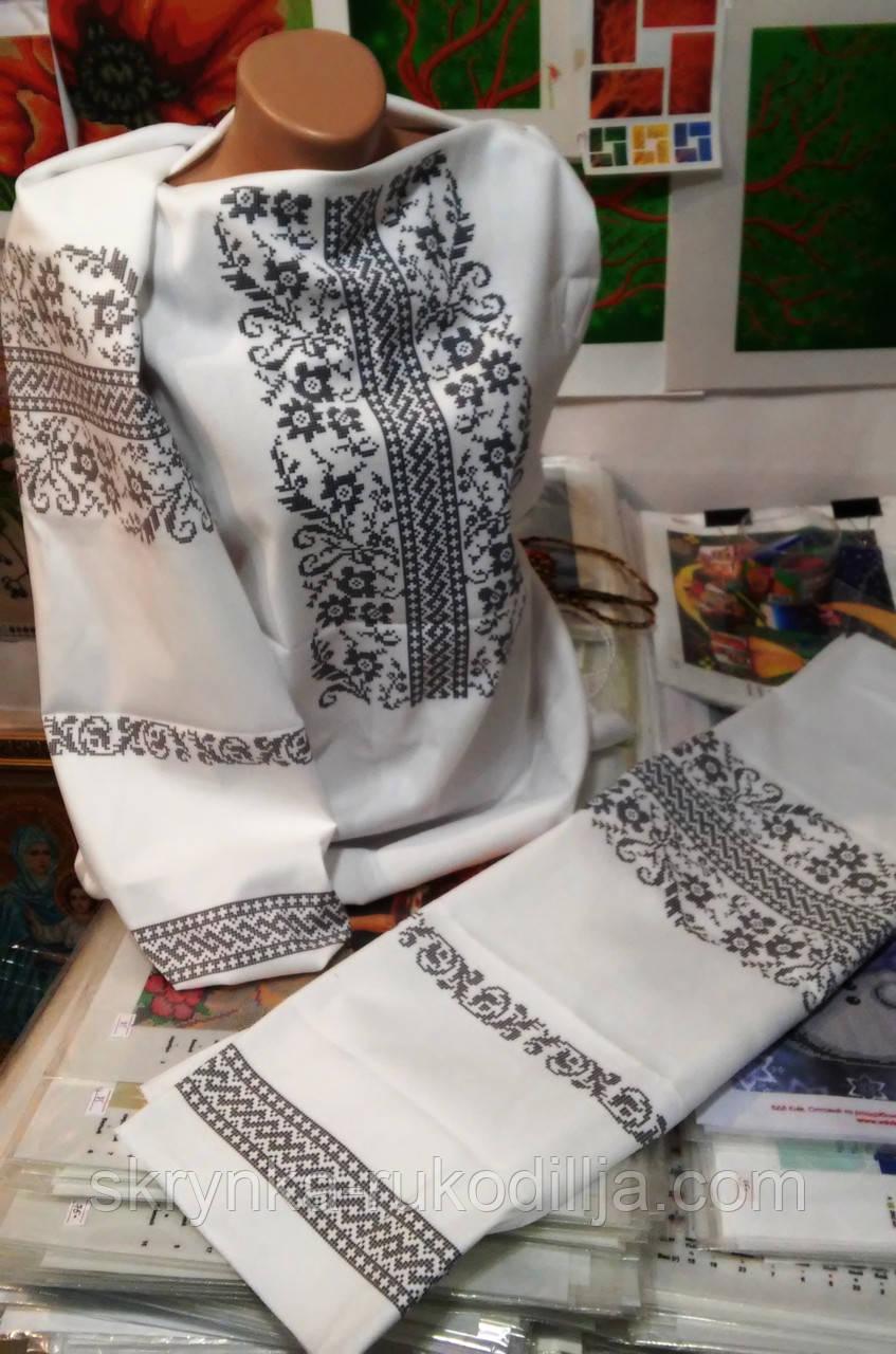 Заготовка для вишивки бісером нитками жіночої сорочки  продажа d4382c016bec8