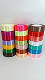 """Стрічка атласна 0.5 см червона """"темна"""", різні кольори(1моток-23метра), фото 2"""