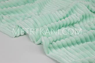 Minky Stripes плюш ментол цвета 380 г/м2  №с-16