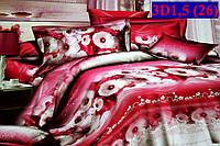 Постельное белье сатин 3D-эффект полуторное  3D1,5 (26)