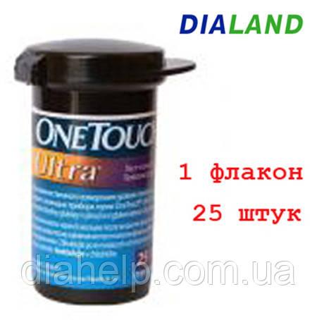 Тест-полоски Ван Тач Ультра (One Touch Ultra) 25 штук  - 1 флакон