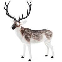 Фигура Олень новогодний, Декоративный олень с имитацией искусственного меха, 120*144 см