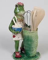 """Фарфоровая Подставка для кухонных принадлежностей """"Лягушка"""""""