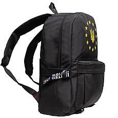 Рюкзак городской BagHouse Limited edition ткань чёрный нейлон  45х33х14   ксСТ040ч, фото 3