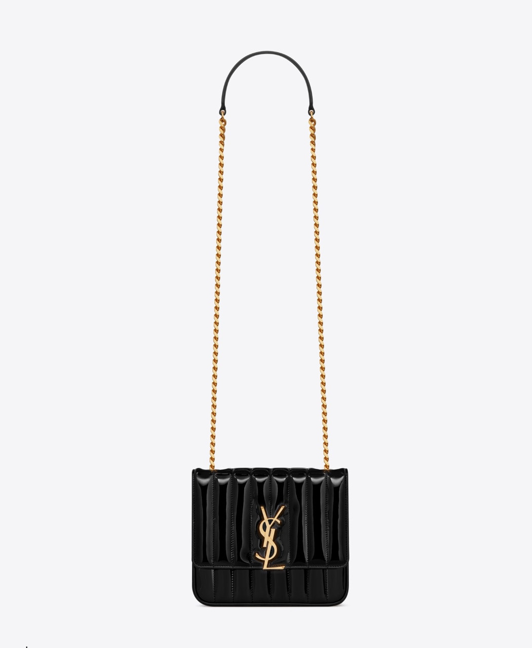 Сумка в стиле Yves Saint Laurent чёрная средняя