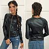 Женская куртка-пиджак из эко-кожи  аг044