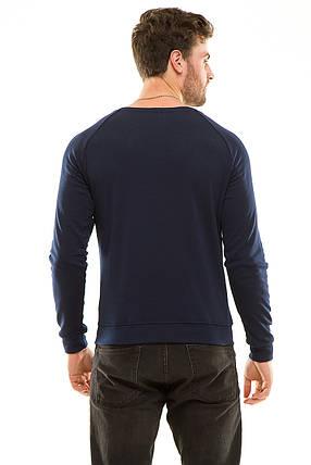 Реглан с тиснением 428 темно-синий, фото 2