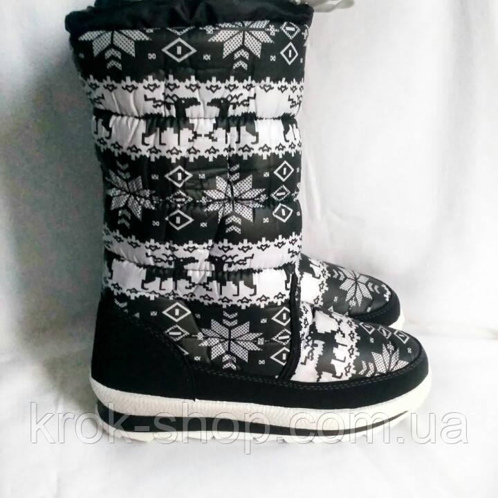 Ботинки женские зимние на липучке оптом