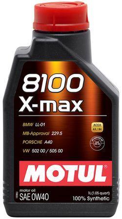 Моторное масло Motul 8100 X-MAX 0W40 1L