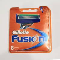 Сменные кассеты для бритья Gillette Fusion , 8 шт