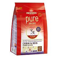 Сухой корм для взрослых собак малых пород Meradog Pure Mini Lamb & Rice 053697, 3 кг