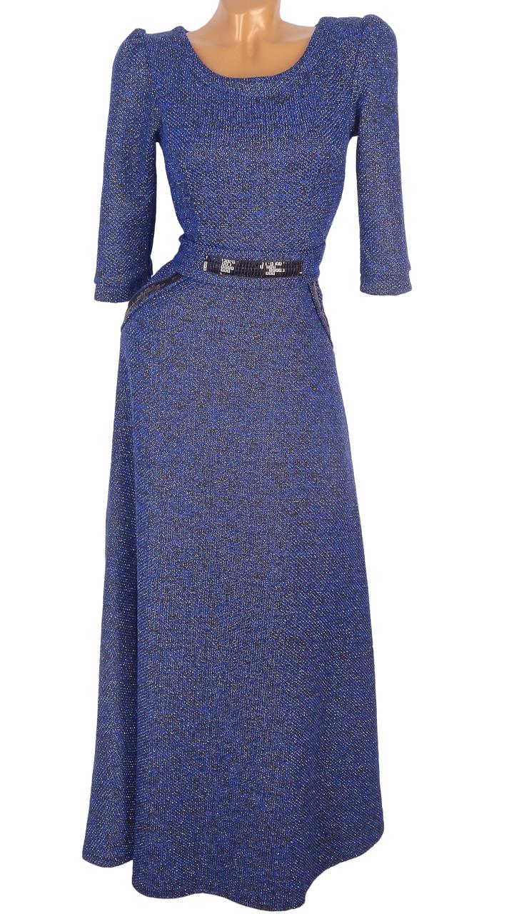 Нарядное длинное платье в пол (в расцветках)