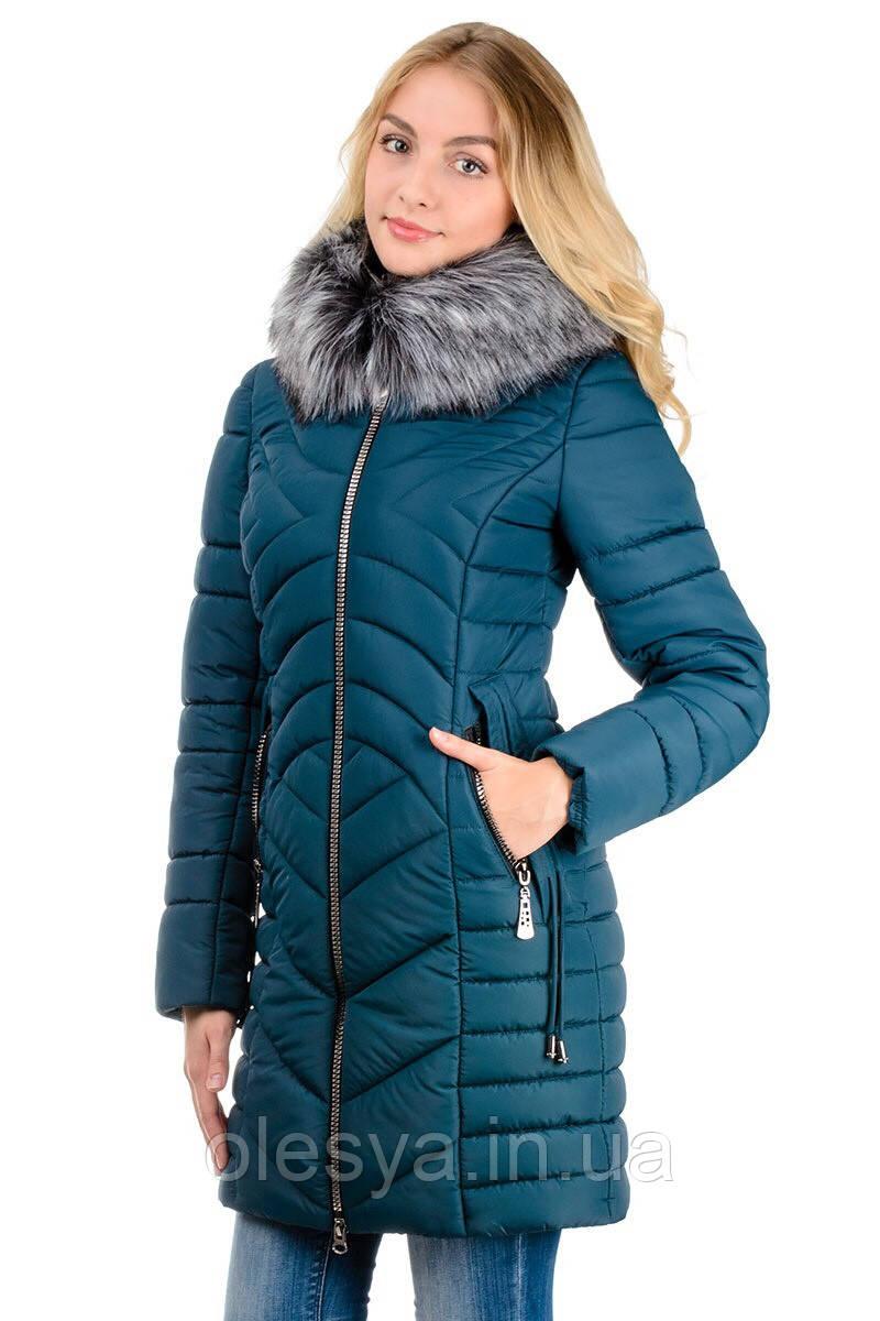 Зимняя женская куртка Ника Водоотталкивающая плащевка Canada Размеры 42-48