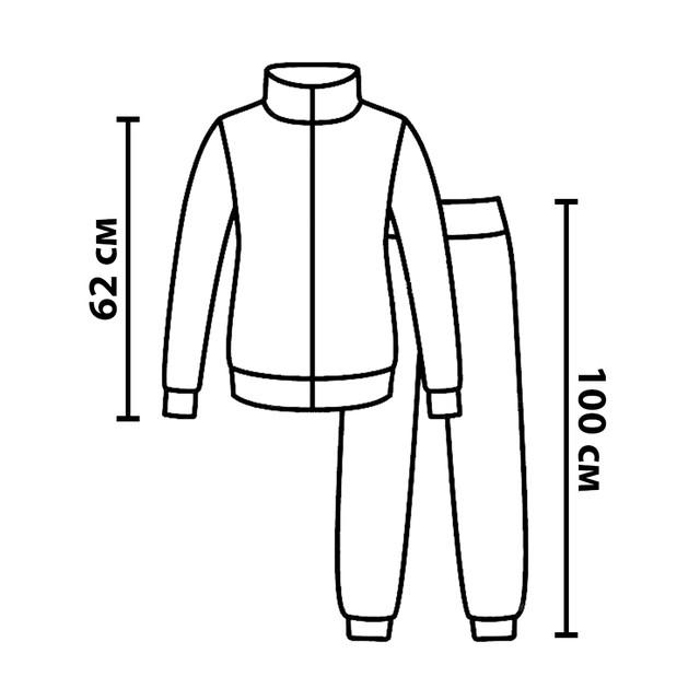 Размерная сетка на костюмы вязаные