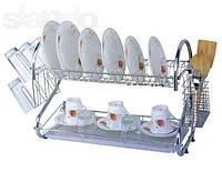 Сушилка для посуды настенная 2 яруса А-Плюс 1198