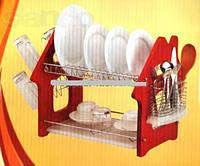 Сушилка для посуды деревянными боками А-ПЛЮС 1186