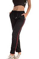Трикотажні штани з лампасами сток оптом Wiya лот6шт, фото 1