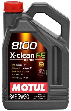 Моторное масло Motul 8100 X-CLEAN FE 5W30 5L