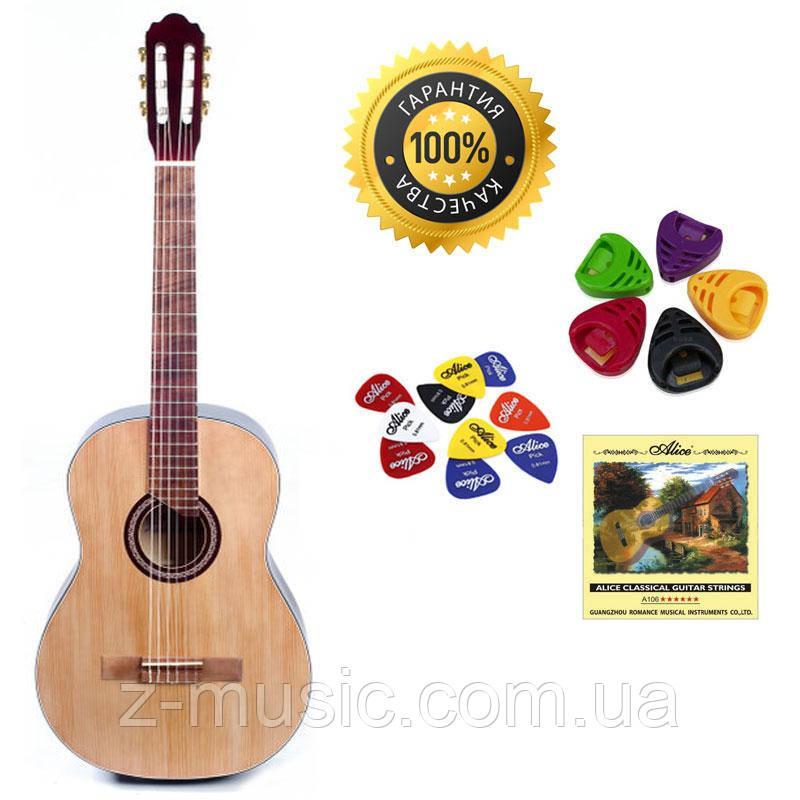Гитара классическая Trembita Leoton L-10 Nat (Струна, Медиатор, Копилка)