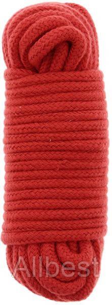 Бондажная веревка BONDX LOVE ROPE - 10M RED (DT20860)