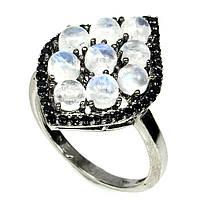 """Потрясающее кольцо с натуральным  лунным камнем и шпинелью  """"Вояж"""", размер 17,2 от студии LadyStyle.Biz, фото 1"""