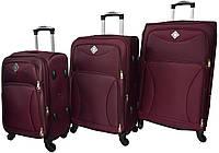Набор дорожных чемоданов на 4 колесах Bonro Tourist набор 3 штуки Марсала, фото 1