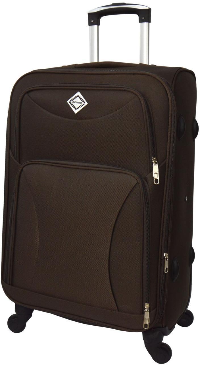Дорожный чемодан на 4 колесах Bonro Tourist Коричневый Средний