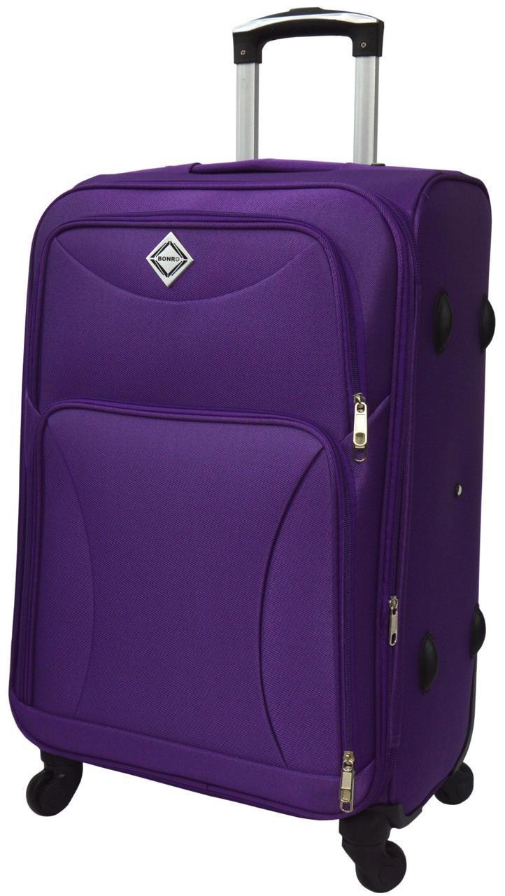 Дорожній валізу на 4 колесах Bonro Tourist Фіолетовий Великий