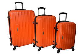 Набір дорожніх валіз на колесах Siker Line набір 3 штуки Помаранчевий