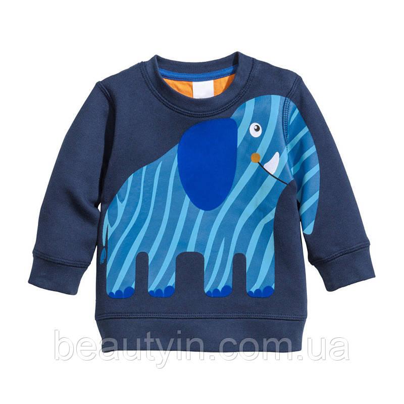 Толстовка для мальчика Синий слон Little Maven