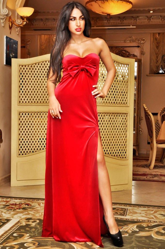 Платье бархат в пол