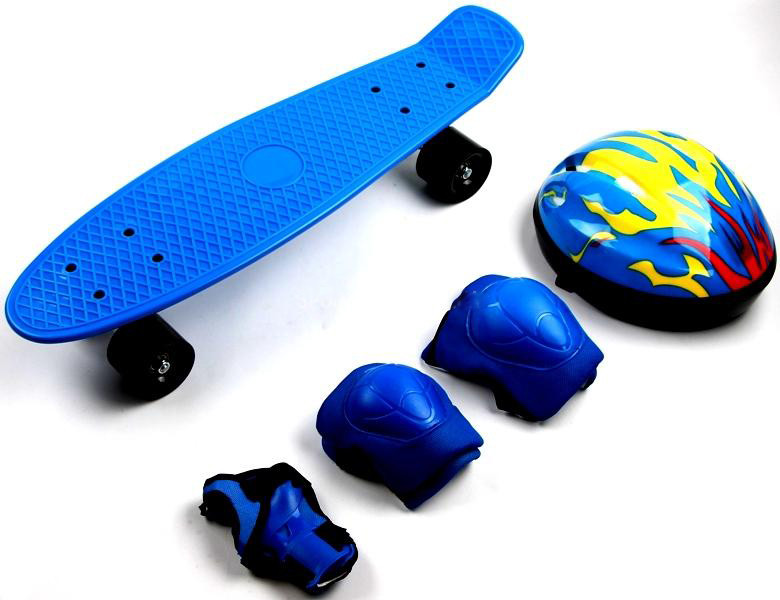 Penny Board Blue+защита+шлем (до 80 кг) Гарантия качества Быстрая доставка