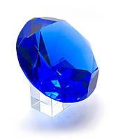 Кристалл хрустальный на подставке синий (12 см)