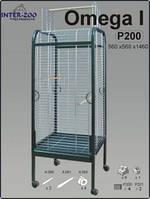 Вольер Клетка для попугаев Омега 1.Ф2, хром, 56*56*146