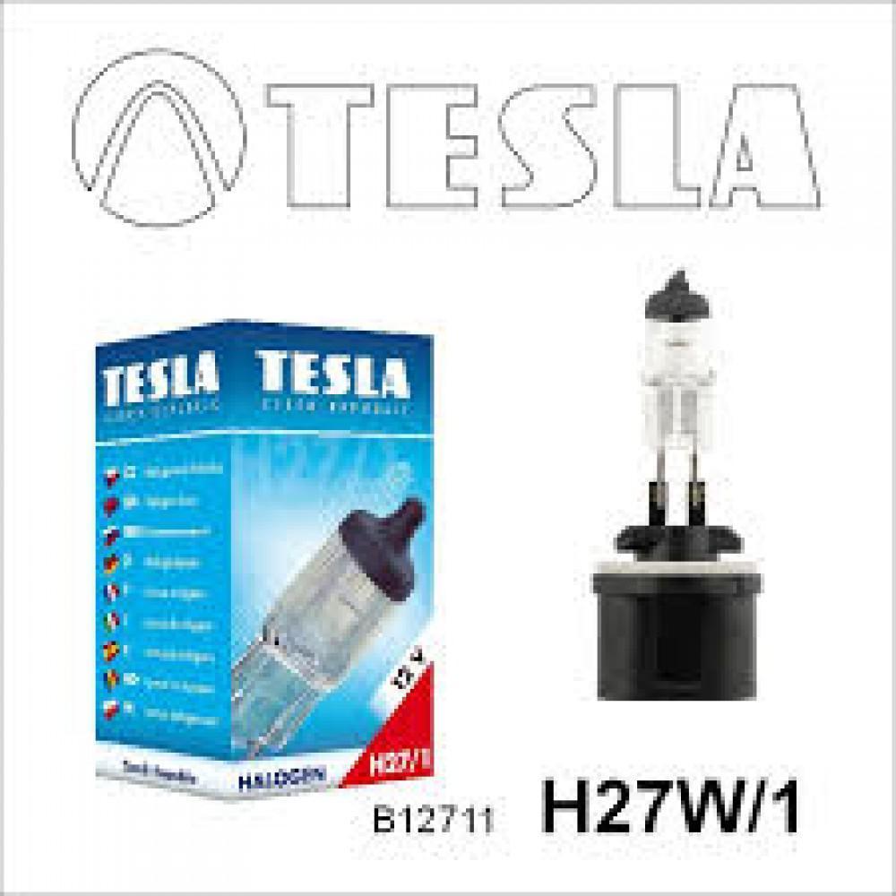 Лампа галогенная Tesla H27W/1 (PG13) 12V, 27W B12711