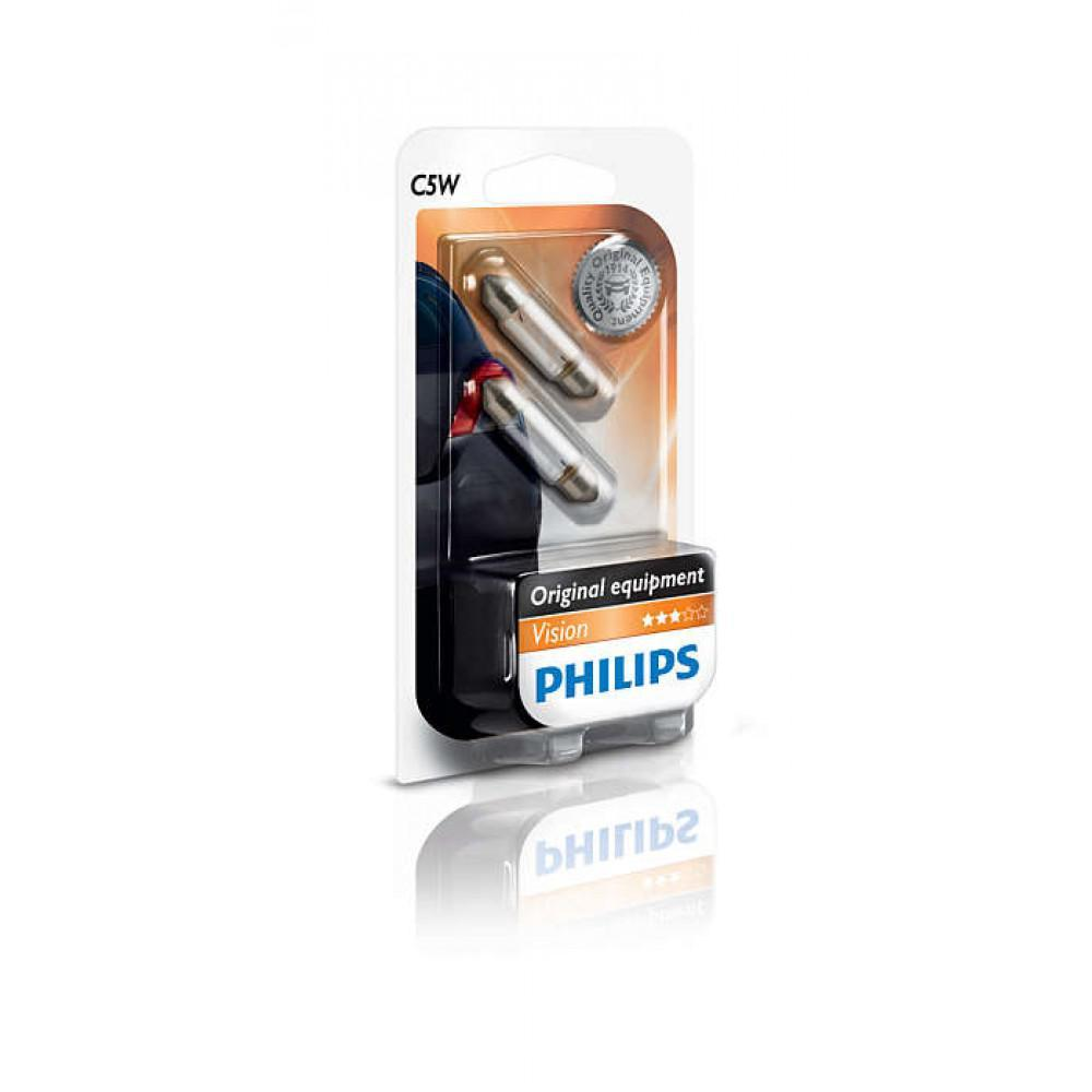 Лампа накаливания Philips C5W, 2шт/блистер 12844B2
