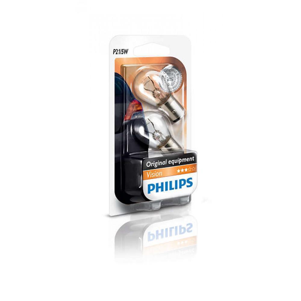 Лампа накаливания Philips P21/5W, 2шт/блистер 12499B2