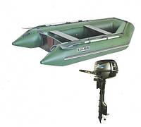 Надувная лодка KOLIBRI + Мотор PARSUN КМ-330 + Мотор T9.8BMS(9,8 л.с.)