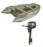 Надувная лодка KOLIBRI + Мотор PARSUN КМ-330Д + Мотор T9.8BMS(9,8 л.с.)