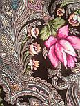 Чародейка Зима 1749-17, павлопосадский платок шерстяной (двуниточная шерсть) с шелковой вязаной бахромой, фото 9