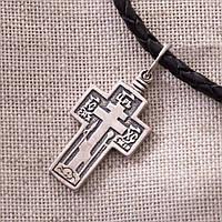 Серебряный православный крест с чернением