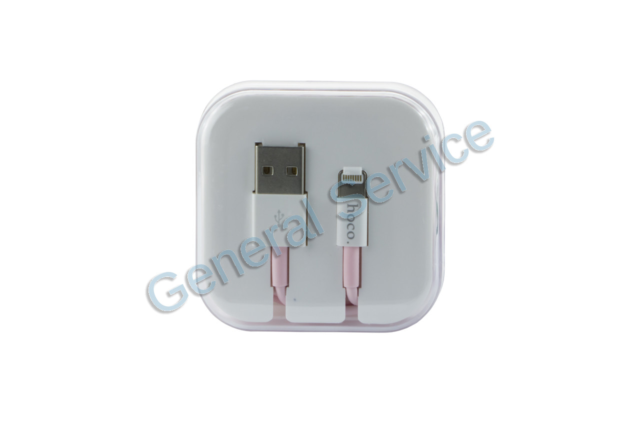 27f52a97f09b Кабель Lightning Hoco - X8 1 м Pink - Интернет магазин General Service.  Товары для