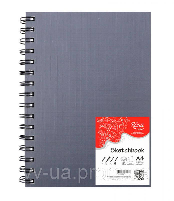 Блокнот Rosa Studio, A4, 100 г/м2, 80 лист.