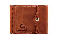 Зажим для денег Grande Pelle на кнопке, терракота, кожа, фото 1