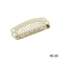 Клипсы HC-05 металлические с силиконовой подкладкой, для наращивания волос на трессах