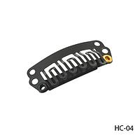 Клипсы HC-04 металлические с силиконовой подкладкой, для наращивания волос на трессах