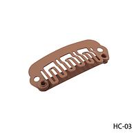 Клипсы HC-03 металлические для наращивания волос на трессах, крепления прядей